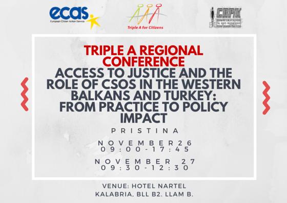 Triple A Regional Conference Pristina November 26-27