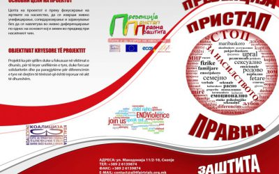 """""""No More Victims of Violence – Prevent, Protect, and Proceed"""" a project byCoalition All For Fair Trials in Macedonia"""